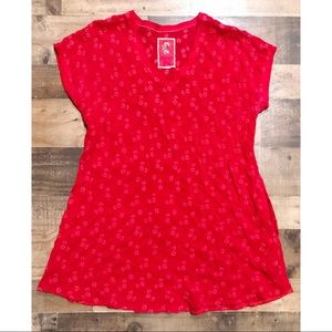 Johnny Was Red Embroidered Cover Up / Dress